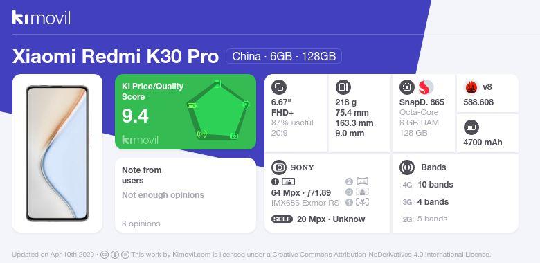 Xiaomi Redmi K30 Pro: Цена, характеристики и где купить