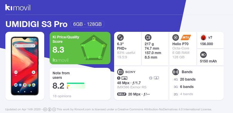 UMiDIGI S3 Pro: Цена, характеристики и где купить